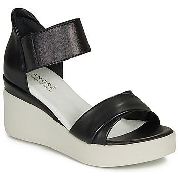 Pantofi Femei Sandale și Sandale cu talpă  joasă André HERMINIA Negru