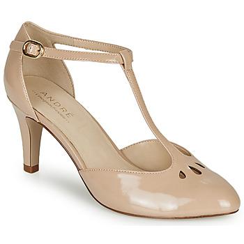 Pantofi Femei Pantofi cu toc André FALBALETTE Nude