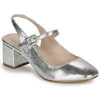 Pantofi Femei Balerin și Balerini cu curea André JONNA Argintiu