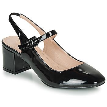 Pantofi Femei Balerin și Balerini cu curea André JONNA Negru / Lac