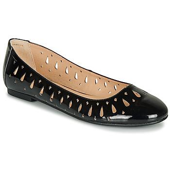 Pantofi Femei Balerin și Balerini cu curea André JENNY Negru / Lac