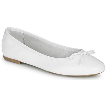Pantofi Femei Balerin și Balerini cu curea André PIETRA Alb