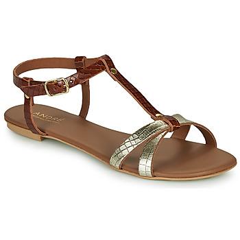 Pantofi Femei Sandale și Sandale cu talpă  joasă André RODHIE Camel