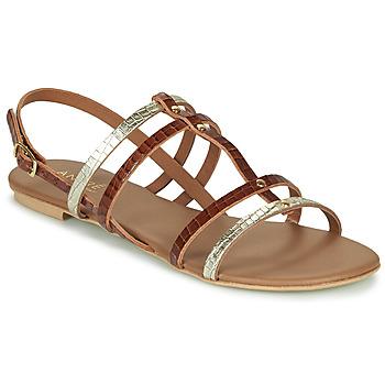 Pantofi Femei Sandale și Sandale cu talpă  joasă André MANDIE Camel