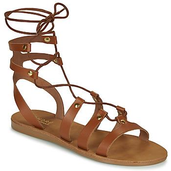 Pantofi Femei Sandale și Sandale cu talpă  joasă André BEA Camel