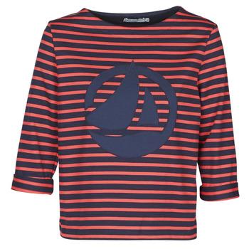 Îmbracaminte Femei Topuri și Bluze Petit Bateau  Roșu / Bleumarin