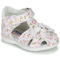 Pantofi Fete Sandale  Primigi 5401300 Alb / Roz