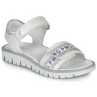 Pantofi Fete Sandale  Primigi 5386700 Alb / Argintiu