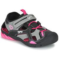 Pantofi Fete Sandale sport Primigi 5460011 Negru / Roz