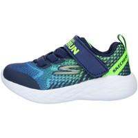 Pantofi Copii Pantofi sport Casual Skechers 97858N Blue Lime
