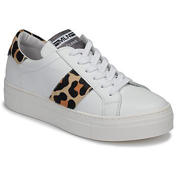 Pantofi Femei Pantofi sport Casual Meline GETSET Alb / Leopard