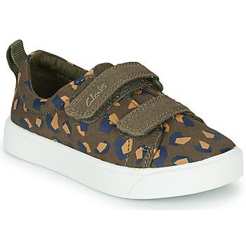 Pantofi Fete Pantofi sport Casual Clarks CITY BRIGHT T Kaki