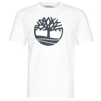 Îmbracaminte Bărbați Tricouri mânecă scurtă Timberland SS KENNEBEC RIVER BRAND TREE TEE Alb