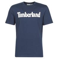 Îmbracaminte Bărbați Tricouri mânecă scurtă Timberland SS KENNEBEC RIVER BRAND LINEAR TEE Albastru