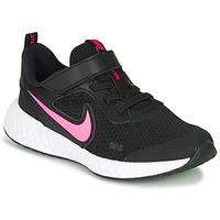 Pantofi Fete Pantofi sport Casual Nike REVOLUTION 5 PS Negru / Roz