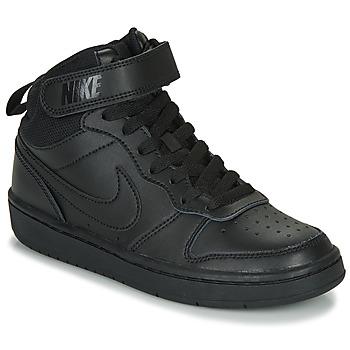 Pantofi Copii Pantofi sport stil gheata Nike COURT BOROUGH MID 2 GS Negru