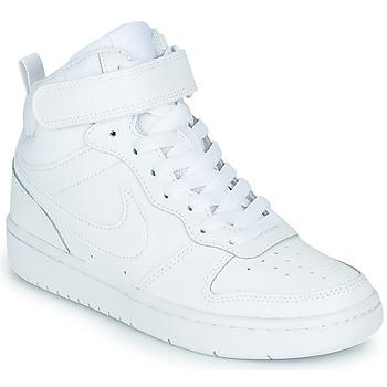 Pantofi Copii Pantofi sport stil gheata Nike COURT BOROUGH MID 2 GS Alb