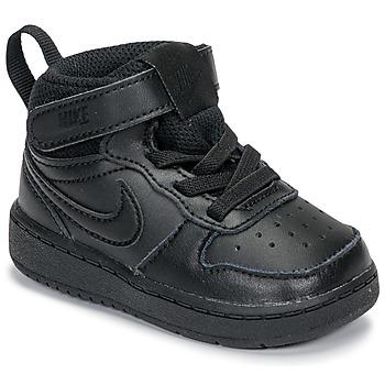 Pantofi Copii Pantofi sport Casual Nike COURT BOROUGH MID 2 TD Negru