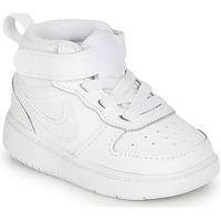 Pantofi Copii Pantofi sport Casual Nike COURT BOROUGH MID 2 TD Alb