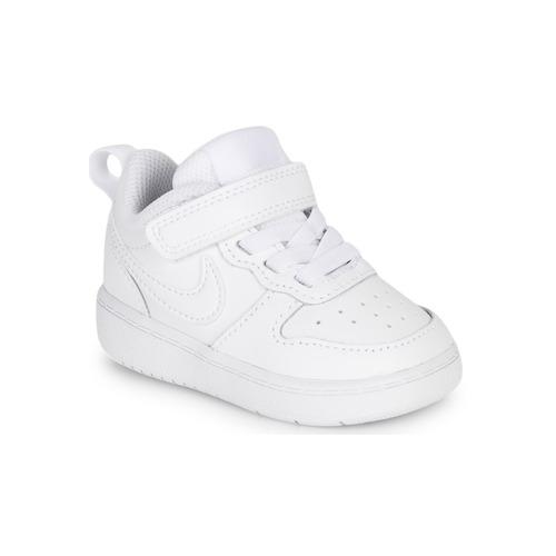 Pantofi Copii Pantofi sport Casual Nike COURT BOROUGH LOW 2 TD Alb