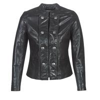 Îmbracaminte Femei Jachete din piele și material sintetic Naf Naf CMILI Negru
