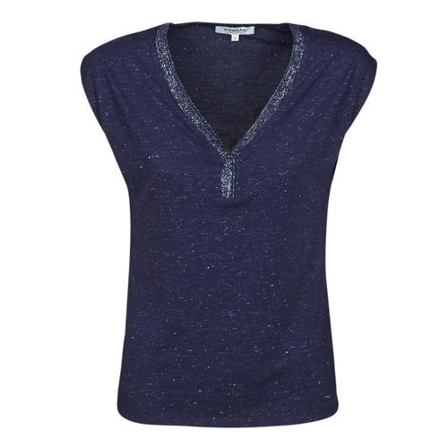 Îmbracaminte Femei Tricouri mânecă scurtă Morgan DMAYA Albastru