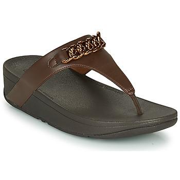 Pantofi Femei  Flip-Flops FitFlop LOTTIE CHAIN TOE-THONGS Maro