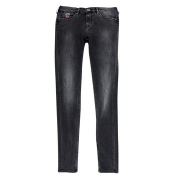 Îmbracaminte Fete Jeans slim Pepe jeans PAULETTE Negru