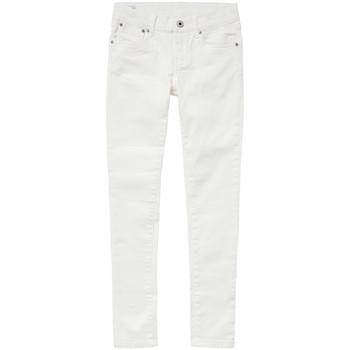 Îmbracaminte Fete Jeans skinny Pepe jeans PIXLETTE Alb