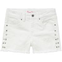 Îmbracaminte Fete Pantaloni scurti și Bermuda Pepe jeans ELSY Alb