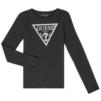Îmbracaminte Fete Tricouri cu mânecă lungă  Guess GARICE Negru
