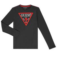 Îmbracaminte Băieți Tricouri cu mânecă lungă  Guess HERVE Negru