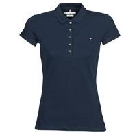 Îmbracaminte Femei Tricou Polo mânecă scurtă Tommy Hilfiger HERITAGE SS SLIM POLO Bleumarin