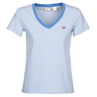 Îmbracaminte Femei Tricouri mânecă scurtă Levi's PERFECT VNECK Alb / Albastru