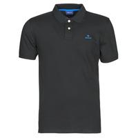 Îmbracaminte Bărbați Tricou Polo mânecă scurtă Gant GANT CONTRAST COLLAR PIQUE POLO Negru / Albastru