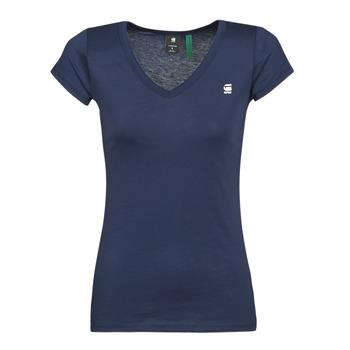 Îmbracaminte Femei Tricouri mânecă scurtă G-Star Raw EYBEN SLIM V T WMN SS Albastru