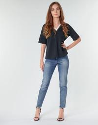 Îmbracaminte Femei Jeans drepti G-Star Raw 3301 HIGH STRAIGHT 90'S ANKLE WMN Albastru