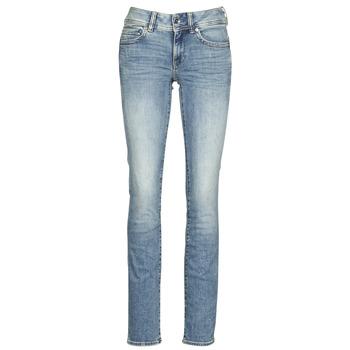 Îmbracaminte Femei Jeans drepti G-Star Raw MIDGE MID STRAIGHT WMN Albastru