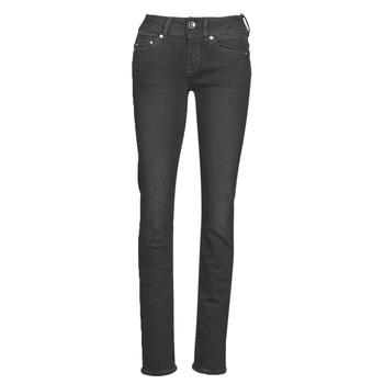 Îmbracaminte Femei Jeans drepti G-Star Raw MIDGE MID STRAIGHT WMN Gri / Culoare închisă