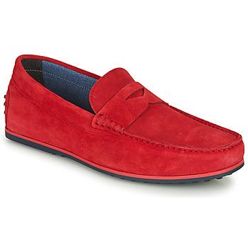 Pantofi Bărbați Mocasini André SKY Roșu