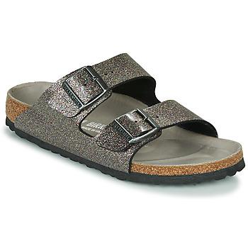 Pantofi Femei Papuci de vară Birkenstock ARIZONA Negru / Argintiu
