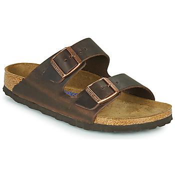 Pantofi Femei Papuci de vară Birkenstock ARIZONA SFB LEATHER Maro