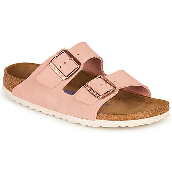 Pantofi Femei Papuci de vară Birkenstock ARIZONA SFB LEATHER Roz