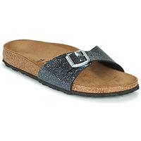 Pantofi Femei Papuci de vară Birkenstock MADRID Negru / Argintiu