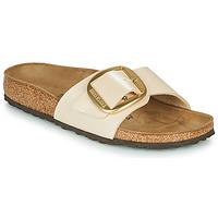 Pantofi Femei Papuci de vară Birkenstock MADRID BIG BUCKLE Graceful / Pearl / White