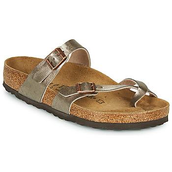 Pantofi Femei Papuci de vară Birkenstock MAYARI Bronz