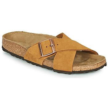 Pantofi Femei Papuci de vară Birkenstock SIENA LEATHER Camel