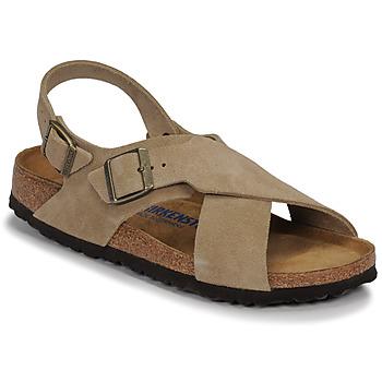 Pantofi Femei Sandale  Birkenstock TULUM SFB LEATHER Taupe