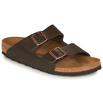 Pantofi Bărbați Papuci de vară Birkenstock ARIZONA LEATHER Maro