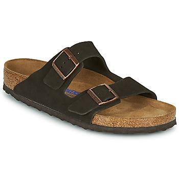 Pantofi Bărbați Papuci de vară Birkenstock ARIZONA SFB LEATHER Maro